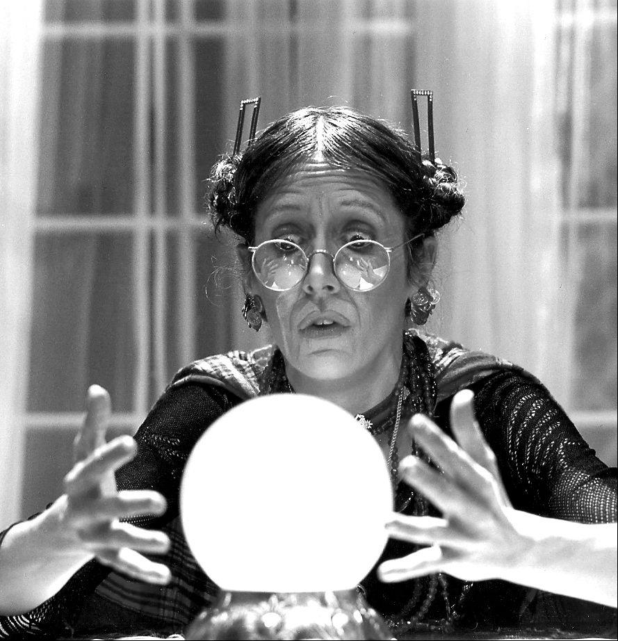 As Madame Arcati in Noel Coward's Blithe Spirit at Sierra Repertory Theatre, Sonora